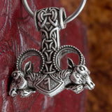 Kings Chain Thor's Hammer (Mjölnir) with runes and goats