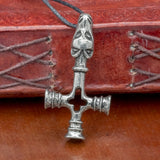 Sterling Silver Fossi Dragon Asgard Thor's Hammer