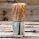 Carved Horn Cup (regular) with wooden base
