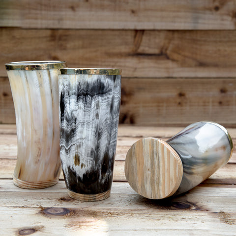 Horn Cup (Large) with wooden base