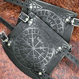 Vegvisir Leather Bracers/Arm Guards