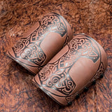 Brown Mjolnir Leather Bracer