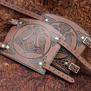 You added Brown Huginn & Munnin Mjolnir Leather Bracer to your cart.