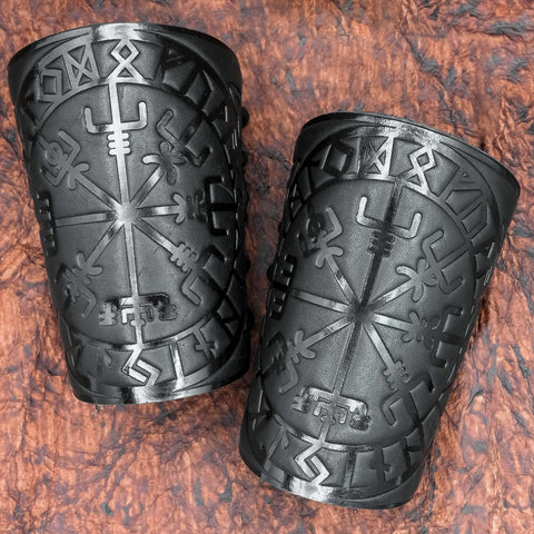 Vegvisir Leather Bracer