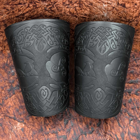 Yggdrasil Leather Bracer/Wide Leather Cuff