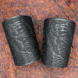 Black Fenrir Leather Bracer/Wide Cuff