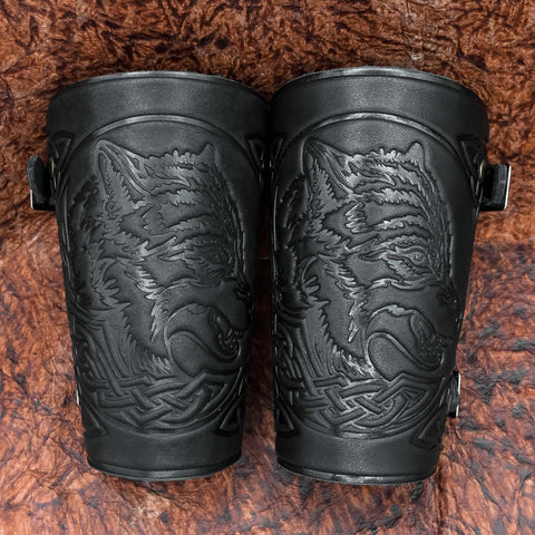 Fenrir Leather Bracers/Arm Guards