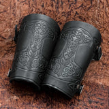 Thor's Hammer Leather Bracers/Arm Guards