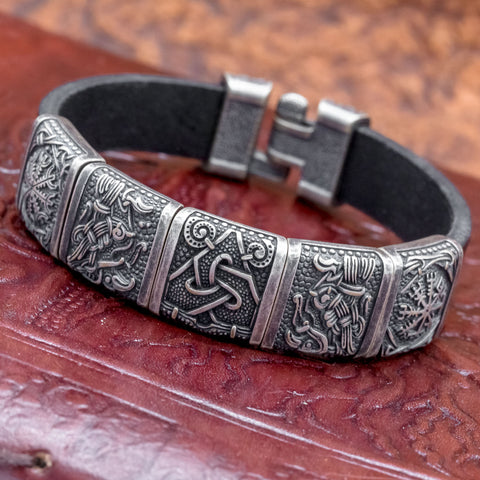 Mammen Charm Leather Cuff
