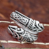Huginn and Muninn Raven Ring
