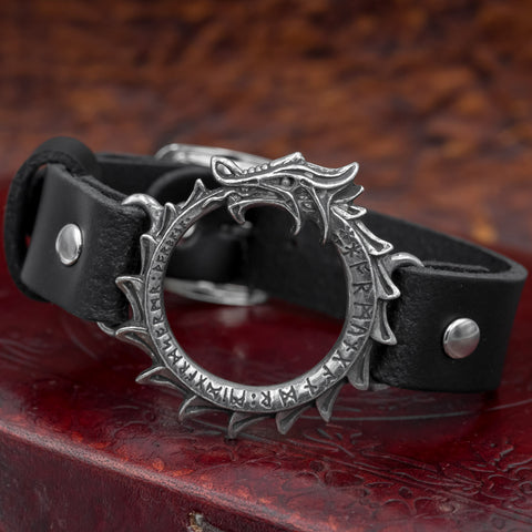 Jormungand Leather Cuff/Bracelet