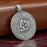 sterling silver viking norse skullvikings hand made valknut pendant amulet uk
