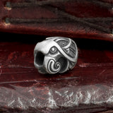 Silver Plated Bronze Raven Hair Bead
