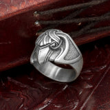 Silver Plated Bronze Raven Ring