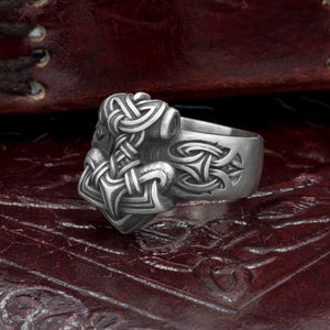 You added Silver Plated Bronze Thor's Hammer Ring to your cart.