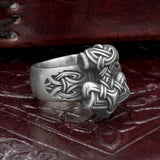 Silver Plated Bronze Thor's Hammer Ring