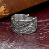 Huginn and Muninn ravens viking split ring