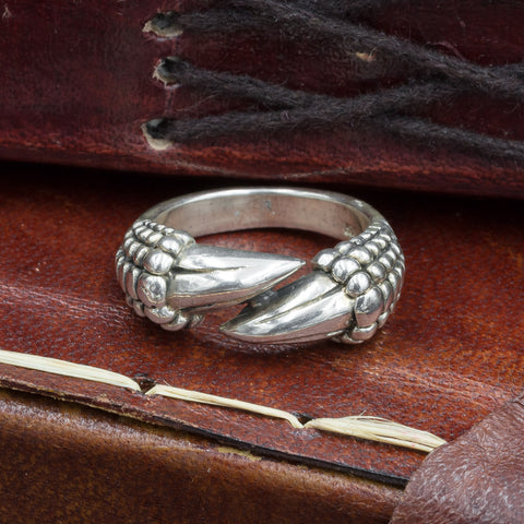 Sterling Silver Dragon Claw Ring