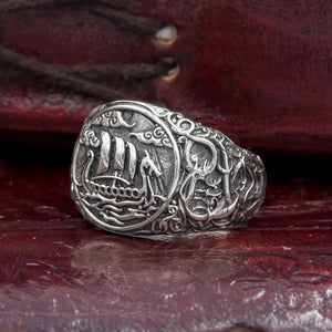 You added Sterling Silver Longship Urnes Ring to your cart.