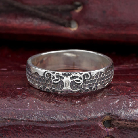 Sterling Silver Tree of Life Ring/Wedding band
