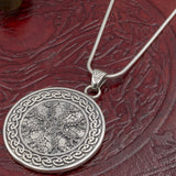 Sterling Silver Helm of Awe Amulet with Knotwork
