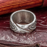 Sterling Silver Helm of Awe and Rune Ring