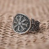 Sterling Silver Jelling Helm of Awe Ring