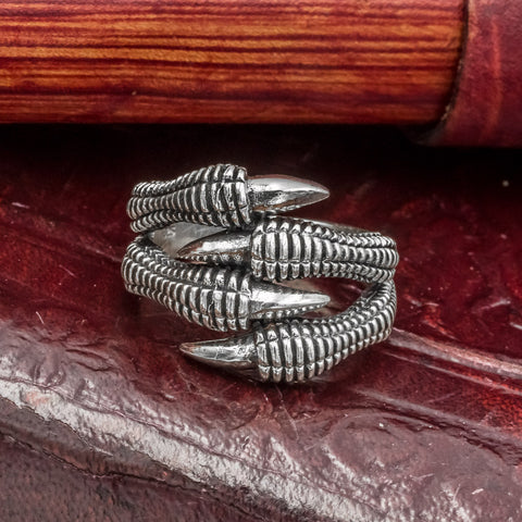 skullvikings viking norse 925 sterling silver jewelry nidhogg dragon claw ring uk