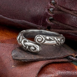 skullvikings viking norse 925 sterling silver jewelry ringerike ring uk