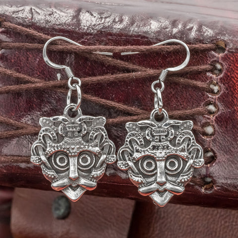 Stainless Steel Gnezdovo Mask Earrings