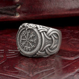 925 Sterling Silver Vegvisir Jormungand Ring UK