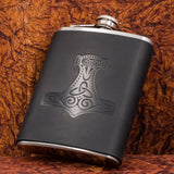 thor's hammer hip flask