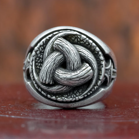 Horns of Odin (Triskelion) Silver Plated Bronze Ring