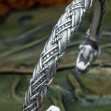 Sterling Silver Scandinavian Wolf Arm Ring
