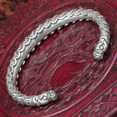 925 Sterling Silver Dragon Arm Ring