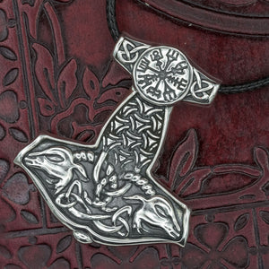 You added Sterling Silver Thor's Hammer with Vegvisir and Goats to your cart.