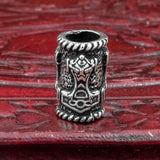 Sterling Silver Mjolnir Hair & Beard Bead