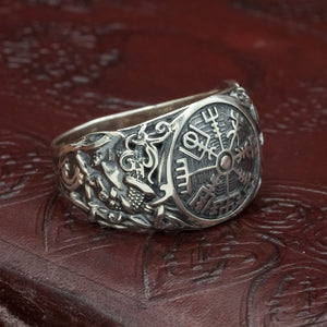 You added Sterling Silver Vegvisir Mammen Axe Ring to your cart.