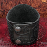 Thor's Hammer Wide Leather Cuff