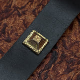 Brass & Brown Leather Belt