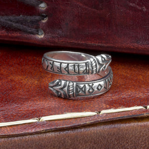 You added Sterling Silver Raven Headed Rune Ring to your cart.