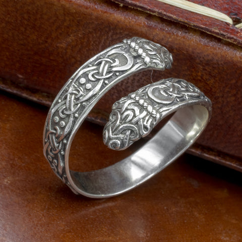 Sterling Silver Jormungand Ring