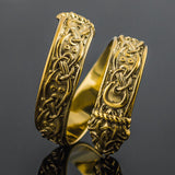 14K Gold Jormungand Ring