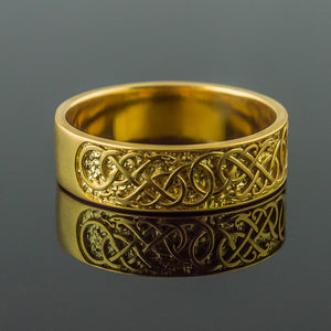 You added 14K Gold Urnes Knotwork Ring/Wedding Band to your cart.