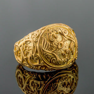 You added 14K Gold Raven Urnes Ring to your cart.