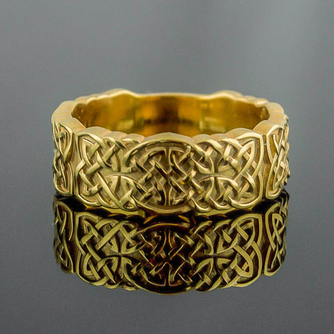 14K Gold Knotwork Ring/Wedding Band