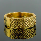 18K Gold Knotwork Ring/Wedding Band