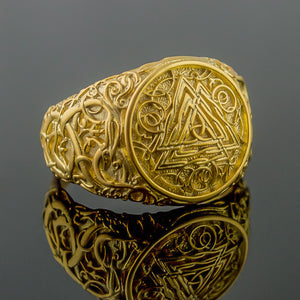 You added 18K Gold Urnes Valknut Ring to your cart.