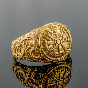 You added 14K Gold Urnes Vegvisir Ring to your cart.