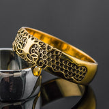 18K Gold Tree of Life Ring/Wedding band